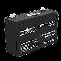 Аккумулятор AGM LPM 6V - 12 Ah, фото 1
