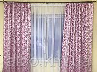 Комплект штор в спальню ALBO 150х270cm (2 шт) и ламбрекен розовый (LS-215-13), фото 10