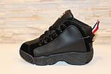 Кроссовки черные высокие код Т153, фото 2