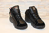 Кроссовки черные высокие код Т153, фото 3