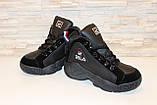 Кроссовки черные высокие код Т153, фото 4