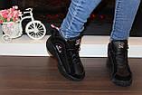 Кроссовки черные высокие код Т153, фото 5
