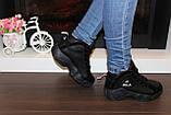 Кроссовки черные высокие код Т153, фото 6
