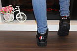 Кроссовки черные высокие код Т153, фото 7