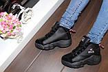 Кроссовки черные высокие код Т153, фото 8