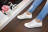 Кеды белые модные Т58, фото 6