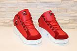 Кроссовки красные высокие код Т152, фото 3