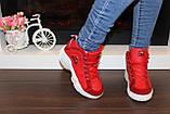 Кроссовки красные высокие код Т152, фото 6