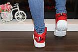 Кроссовки красные высокие код Т152, фото 8
