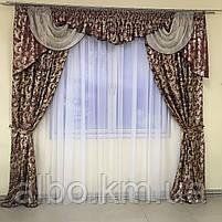 Набор штор с лабрекеном для спальни зала кухни, ламбрекен в гостиную, ламбрекен для спальни, ламбрекен для, фото 5