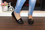 Мокасины туфли женские черные Т043, фото 4