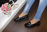 Мокасины туфли женские черные Т043, фото 5