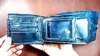 Кожаный мужской кошелек/шкіряний чоловічий гаманець.