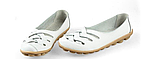 Туфли балетки белые женские натуральная кожа Б777, фото 2