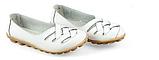 Туфли балетки белые женские натуральная кожа Б777, фото 3