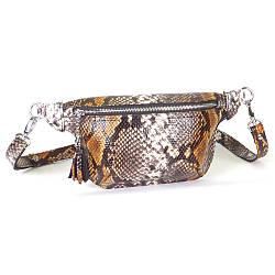 Женская поясная сумочка 01 питон 01010616