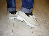 Туфли женские бежевые Т453, фото 4