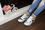 Кроссовки цветные белые Т474, фото 9