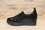 Туфли женские черные на танкетке Т055, фото 2