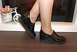 Туфли женские черные на танкетке Т055, фото 3
