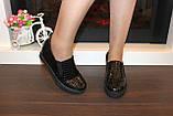 Туфли женские черные на танкетке Т055, фото 4