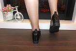 Туфли женские черные на танкетке Т055, фото 5