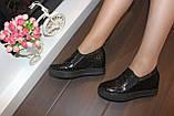 Туфли женские черные на танкетке Т055, фото 6