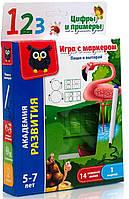 Игра с маркером Пиши и вытирай Цифры и примеры (рус), Vladi Toys (VT5010-04)