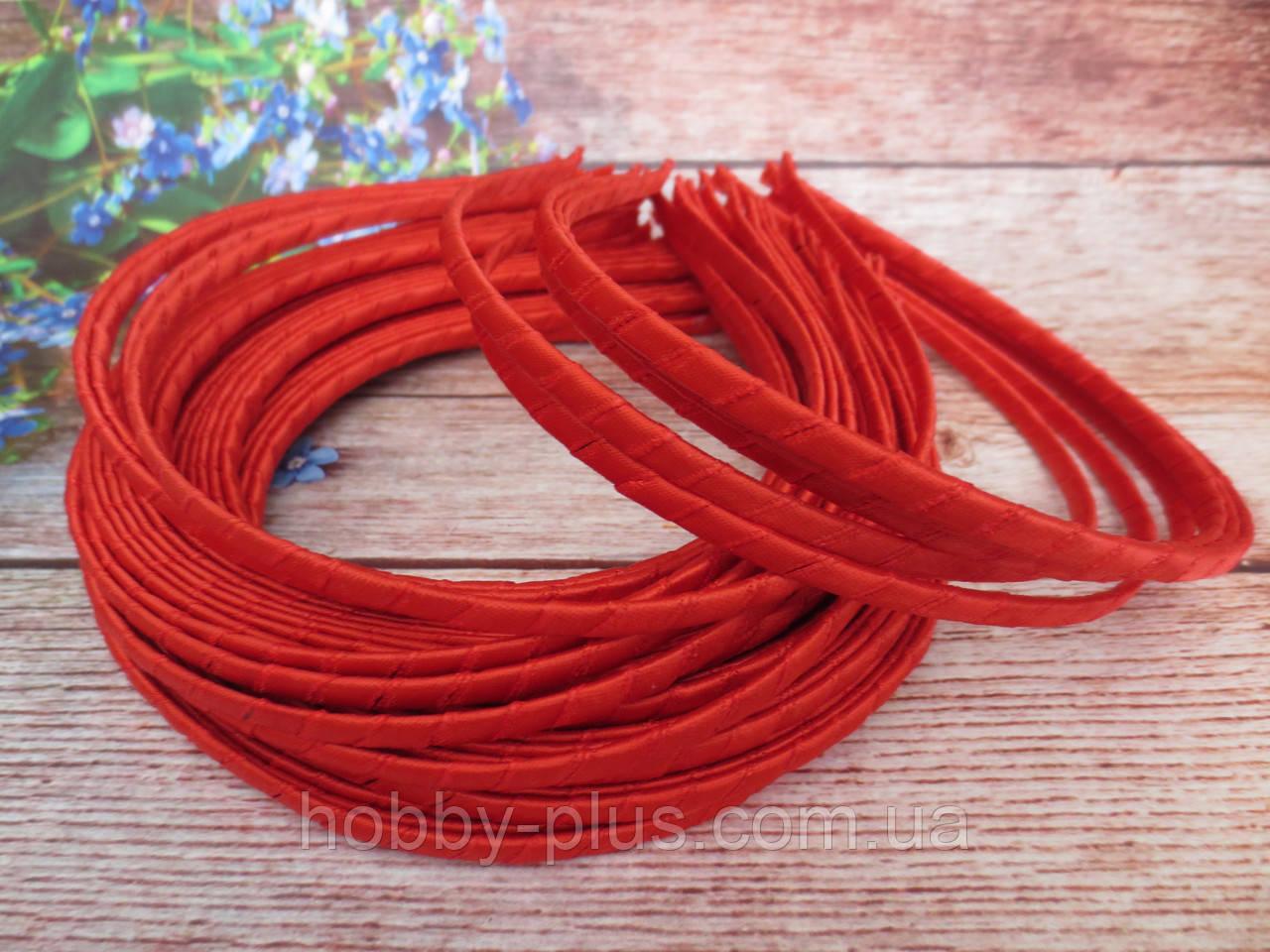 Обруч металлический обмотанный лентой, КРАСНЫЙ, 0,6 см