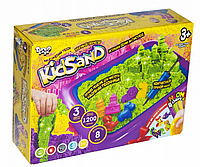 KidSand (1200 гр) Кинетический песок Большой набор для творчества от 3+