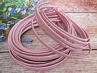 Обруч металлический обмотанный лентой, СВЕТЛО-РОЗОВЫЙ, 0,6 см