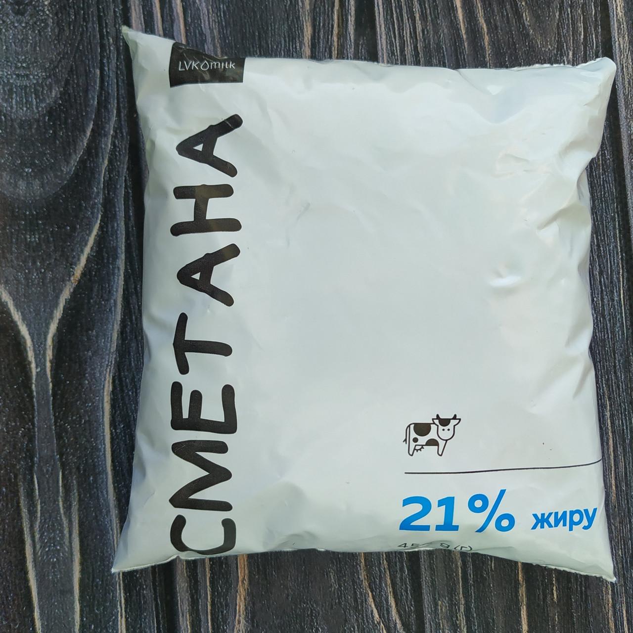 Сметана 21% 450г LVK milk