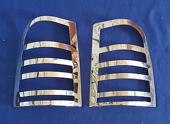 Хромированные накладки на задние фонари mercedes vito 638