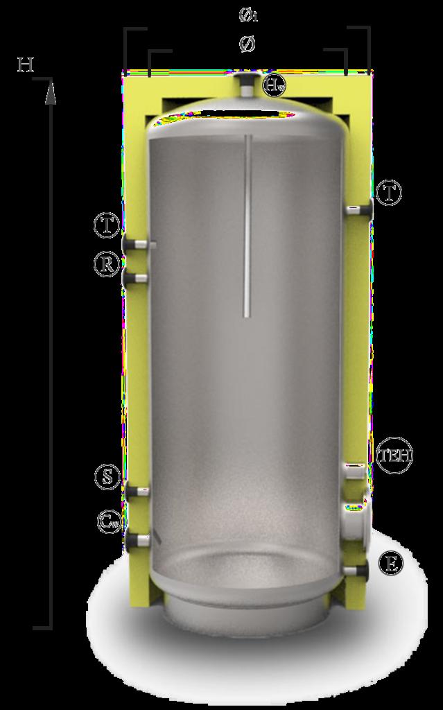 Бойлер комбінований ВТ - 01 - 150 л (1 змійовик) (шт)