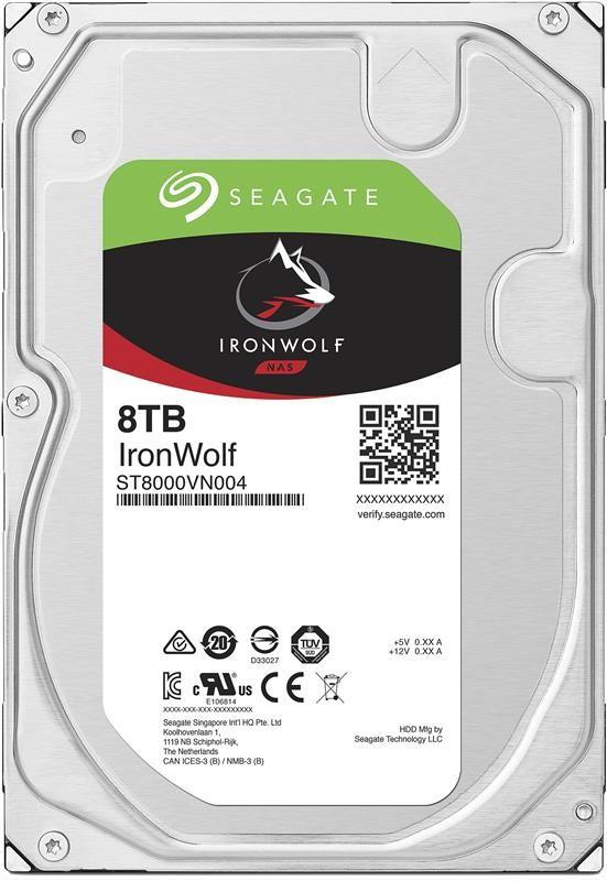 Накопитель HDD SATA 8.0TB Seagate IronWolf NAS 7200rpm 256MB (ST8000VN004)