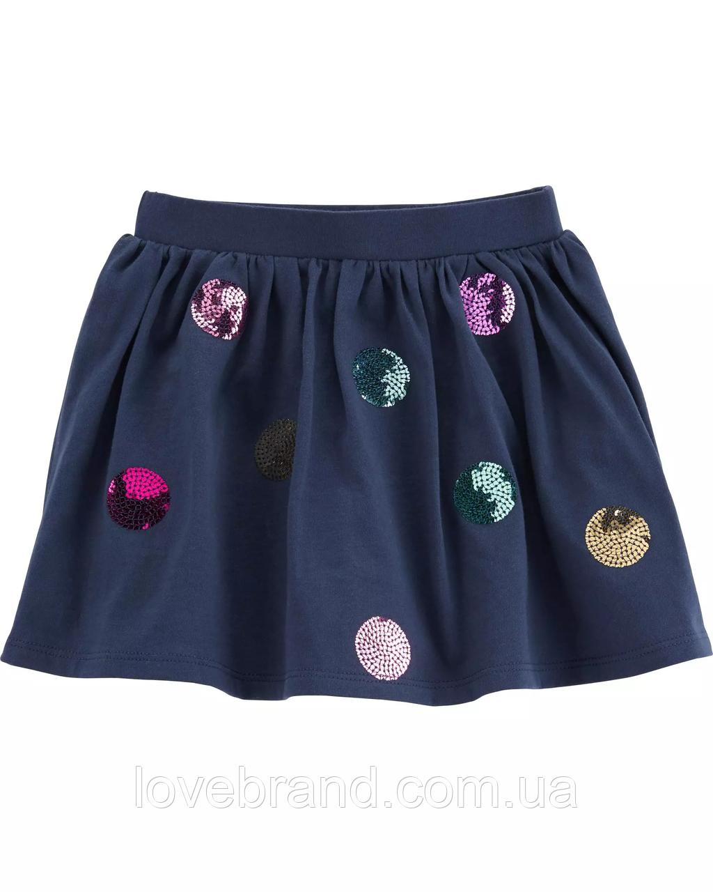 """Юбка-шорты для девочки Carter's синего цвета """"Паетки"""""""