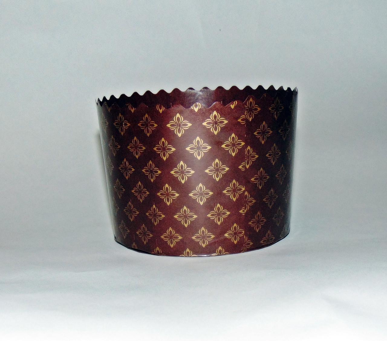 Форма для пасхи бумажная темно-коричневая 110х85