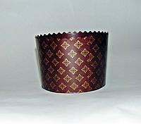 Форма для пасхи бумажная темно-коричневая 110х85, фото 1
