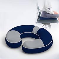 Ортопедическая подушка под попу с пеной памяти Le.Dou - ТМ HealthDay Модель 2 (для сидения)