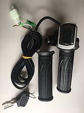 Ручка газа для электровелосипеда 12/24/36/48/60v универсальная с вольтметром