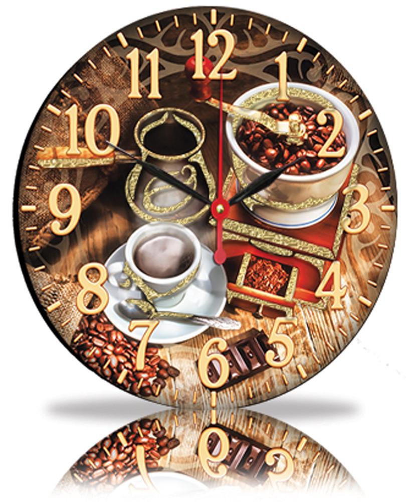 Настінні годинники Декор Карпати Кави (25-84)