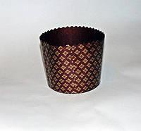 Форма для пасхи бумажная темно-коричневая 125х100