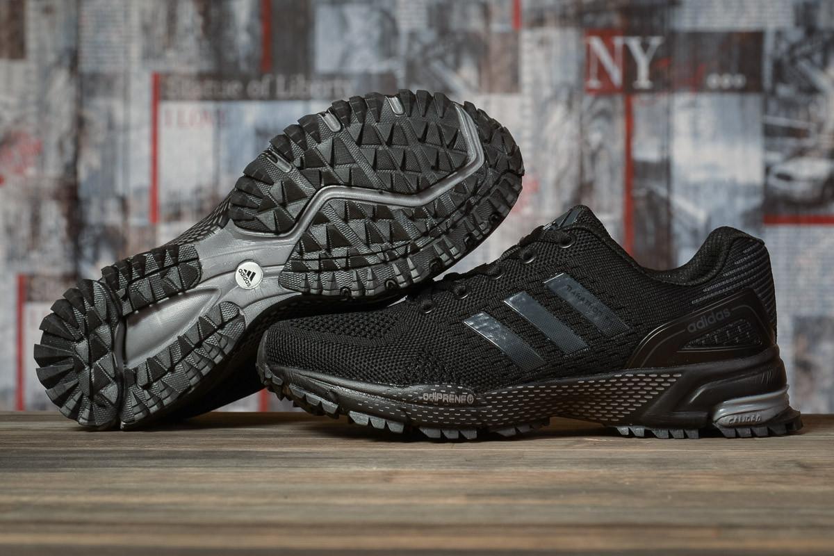 Купить Кроссовки женские Adidas Marathon TN черные, АдиДас Марафон, дышащий материал, прошиты. Код DO-16911 40