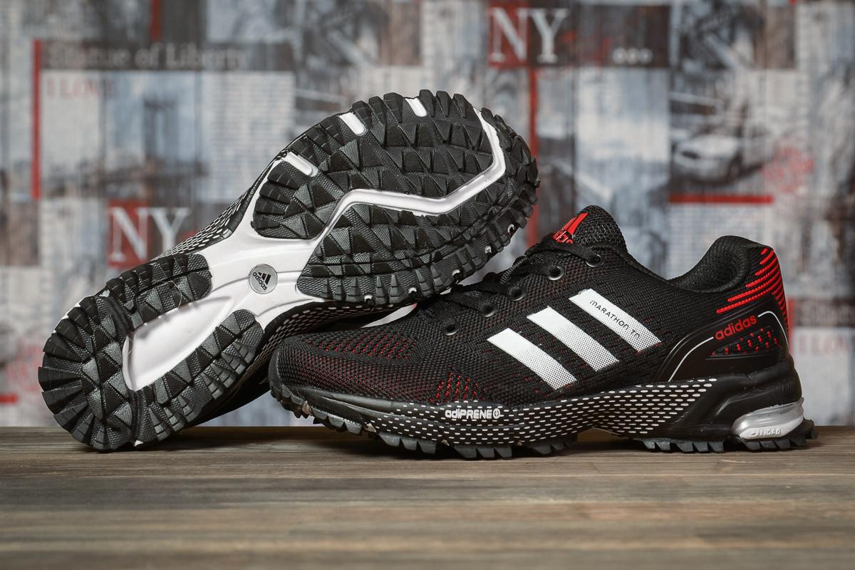 Купить Кроссовки женские Adidas Marathon TN черные, АдиДас Марафон, дышащий материал, прошиты. Код DO-16912 40