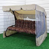 Садовые качели Барна GreenGard 3 видов подушек