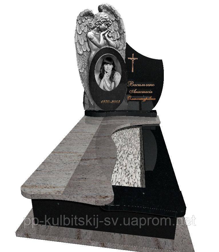 Пам'ятник різьблений одинарний FR 7001