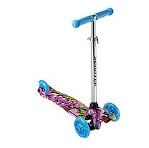 Детский самокат 906, материал пластик металл, колёса PU светятся, цвет голубой, фото 2