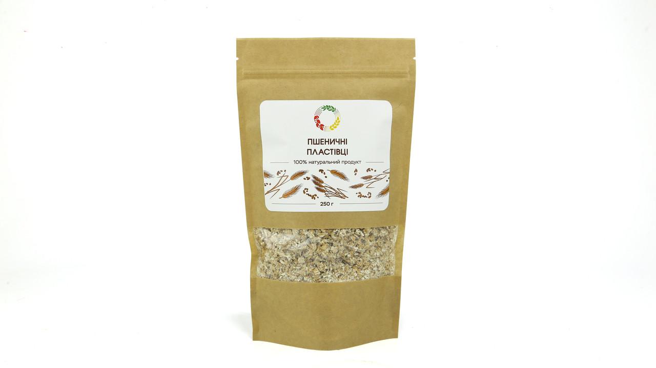 Пшеничные хлопья 0.25 кг сертифицированные без ГМО
