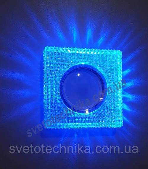 Точечный Led светильник с розовой подсветкой 7791
