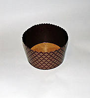 Форма для пасхи бумажная темно-коричневая 150х100